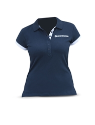 Picture of Polo shirt, woman, white/blue
