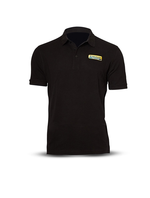 New holland style fr polo shirt black for Black polo shirt images