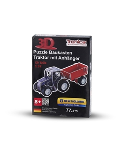Imagem de 3d PuzzleTractor, T7.315 with trailer