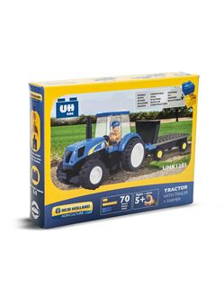 Picture of Tractor, construction bricks , with trailer (70 pcs)