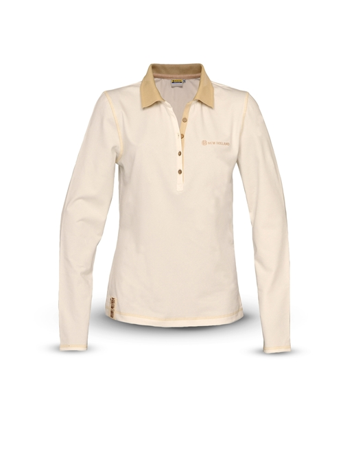 Picture of Polo shirt, woman, LS, ivory