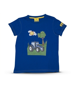 Picture of T-shirt, kids, T, blue