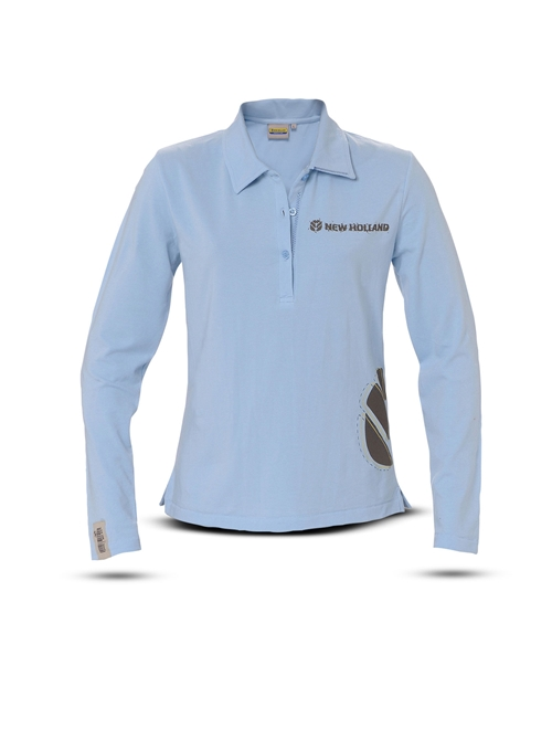 Picture of Polo shirt, woman, LS, light blue
