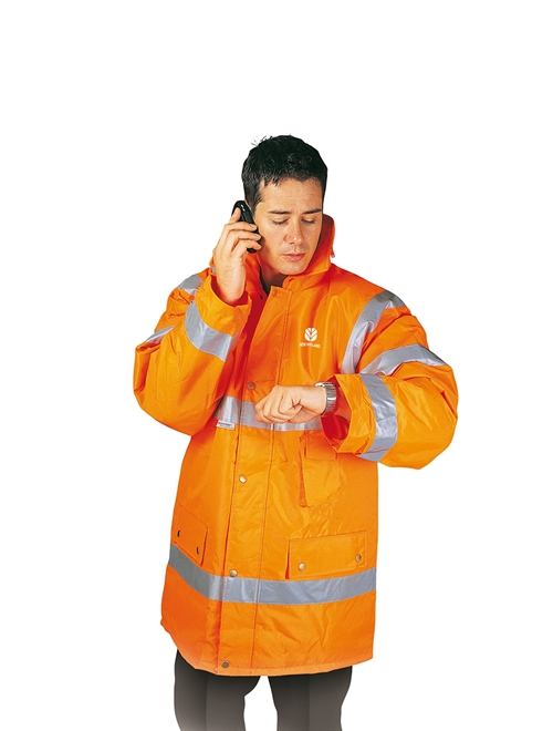 Picture of High-Visibility Orange Safety Jacket