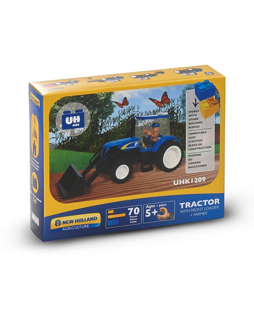 Picture of TRACTOR + LOADER, BRICKS (70PC)