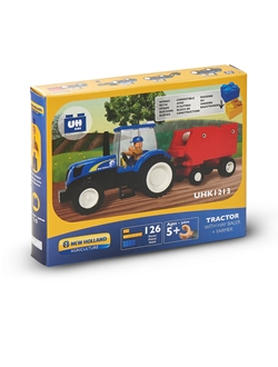 Picture of TRACTOR WITH PRESS, BRICKS (126PC)