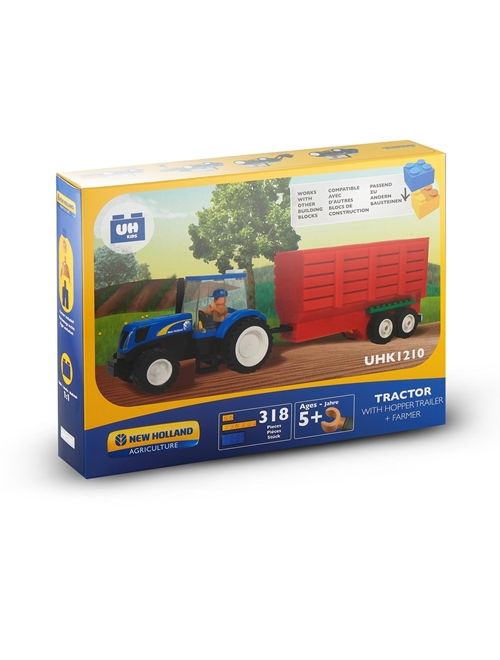 Picture of TRACTOR+HAY CARRIER, BRICKS(318PC)