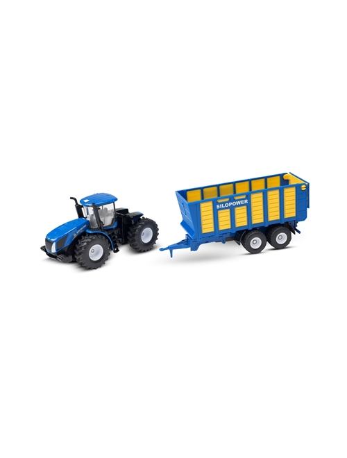 Picture of Tractor, T9.560, silage trailer, 1:50