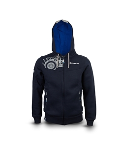 fd3b5e43c06 Picture of MEN'S BLUE-GREY HOODED SWEATSHIRT