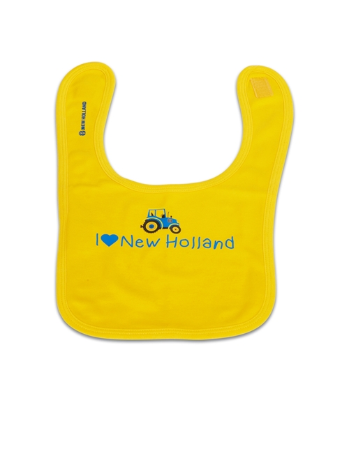 Picture of I LOVE NEW HOLLAND BABY'S  YELLOW BIB