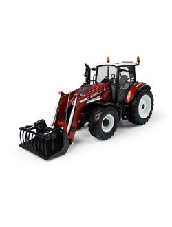 Obrazek Tractor, T5.120 Centenario with front loader, Terracotta, lim. ed., 1:32