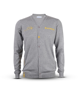 Immagine di Men's cardigan with yellow details and CR shape