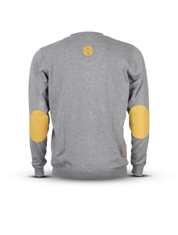 Picture of Men's cardigan with yellow details and CR shape