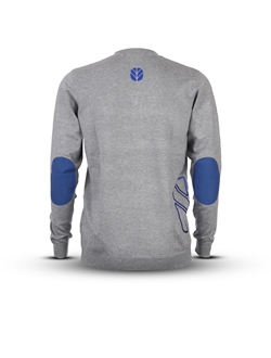Picture of Men's cardigan with blue details and Tractor shape