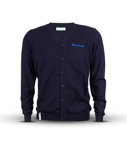 Picture of Men's cardigan with blue details, blue