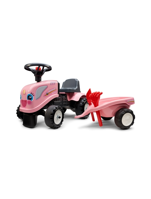 Picture of Baby girly ride-on tractor with trailer, rake and shovel