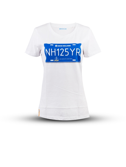 """Picture of """"NH 125"""" Women's white t-shirt"""