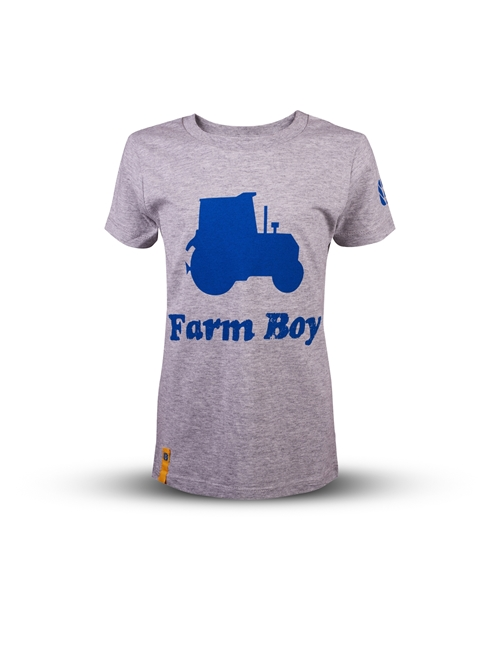 Picture of Boy's grey tractor T-shirt